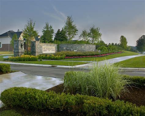 pembrooke park subdivision entrance landscape west