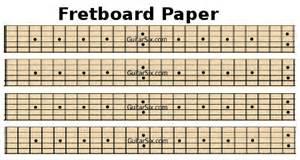 Printable Guitar Fretboard Template by Fretboard Template Bestsellerbookdb