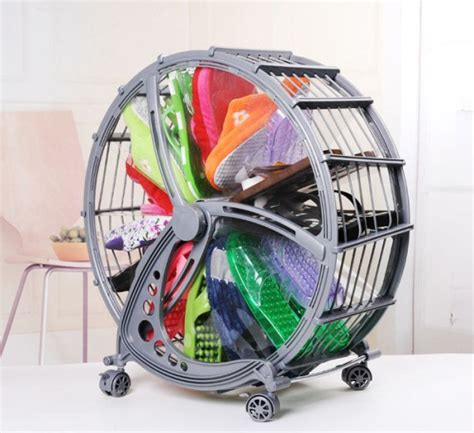 shoe storage wheel ferris wheel shoe organizer rack 9 home design garden