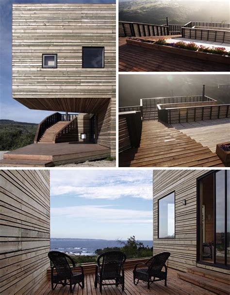 Creative Contemporary All Wood Hillside Home Design | creative contemporary all wood hillside home design