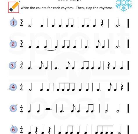 music worksheets holidays rhythm 002 music theory