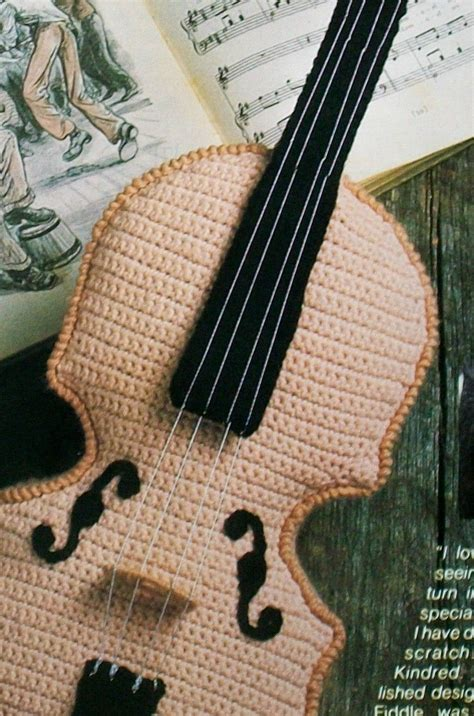 amigurumi guitar pattern crochet fiddle violin musical instrument crochet pattern