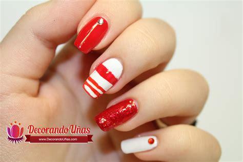 imagenes uñas pintadas de rojo u 241 as decoradas con lineas rojas youtube
