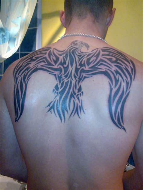 back tattoo eagle wings tribal eagle wings tattoo on back