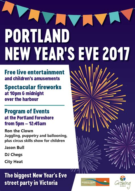 portland new years events glenelg shire council portland new year s 2017