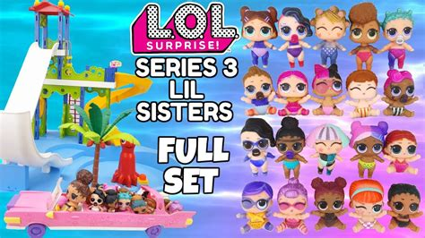 L O L Lil Series 3 lol series 3 lil set l o l playmobil water park slides