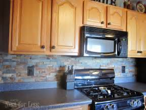 Stone Backsplash In Kitchen Stone Kitchen Backsplash How To Nest For Less