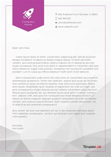 45 Free Letterhead Templates Exles Company Business Personal Stationary Template