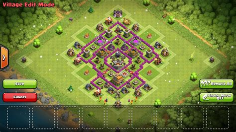 town hall 7 base design super clans best clash of clans town hall 7 hybrid base layouts