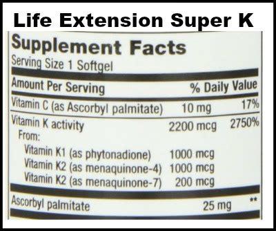 k supplement vitamin k supplement