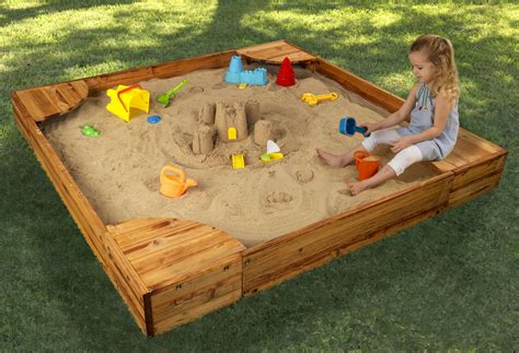 build a sandpit in your backyard kidkraft backyard sandbox 130