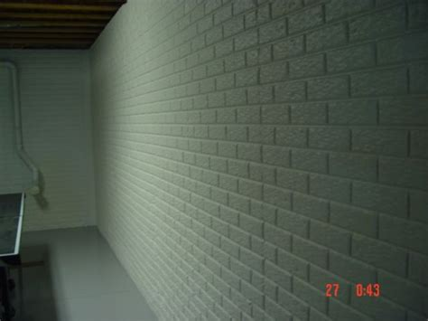 poured basement painted to look like brick basement painted basement wall poured concrete with brick pattern