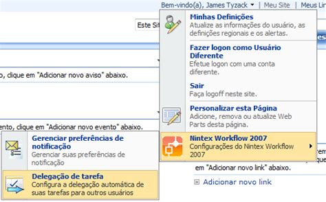 nintex workflow 2007 se voc 234 n 227 o tiver configurado a delega 231 227 o antes a 225 rea de
