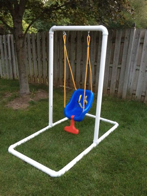 pipe swing set how to build a homemade swing set woodworking projects