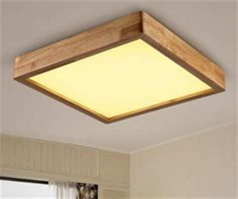 modern brief wooden led ceiling light square minimalism