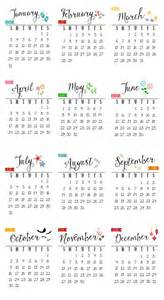 Small Desk Calendar Printable Free 2016 Printable Calendar Clean And Scentsible