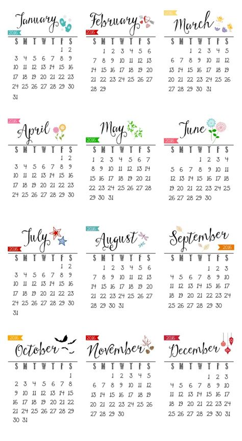 2016 calendar printable free free 2016 printable calendar clean and scentsible