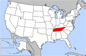 tennessee on a map of the united states tennessee simple the free encyclopedia