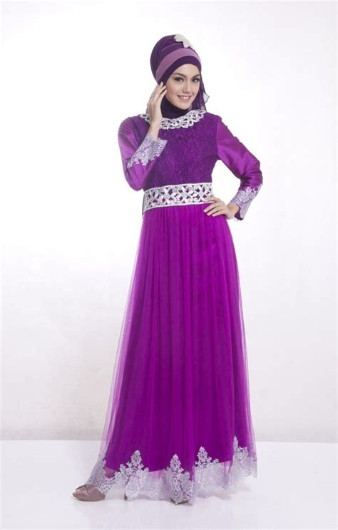 139 Gamis Pesta Muslimah Bordir Ungu Muda 10 best images about gamis pesta modern on models and coral aqua