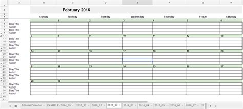 2015 Calendar Spreadsheet Free 2016 Editorial Calendar In Spreadsheets