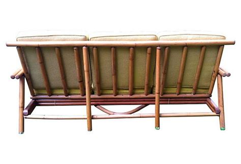 mid century leather chairs omero home mid century bamboo sofa omero home