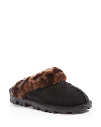 ugg slippers bloomingdales ugg 174 slippers coquette leopard print bloomingdale s