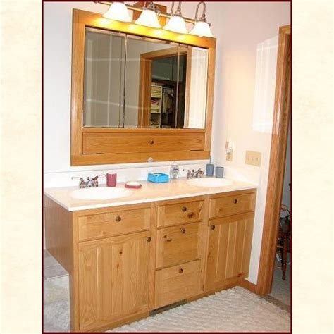 Custom Made Bathroom Vanity Custom Built Wood Bath Vanities Rustic And Traditional