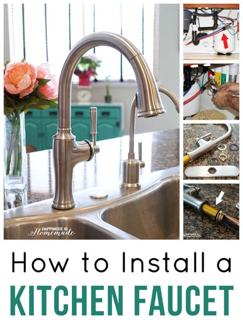 how to install a kitchen sink faucet how to install a kitchen faucet happiness is homemade