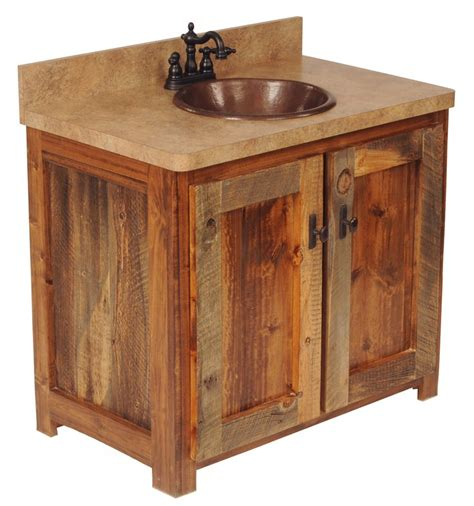 Rustic Bathroom Furniture Options For Rustic Bathroom Vanities Bath Decors