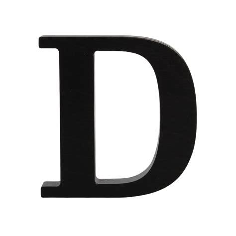 d it wooden letter d black