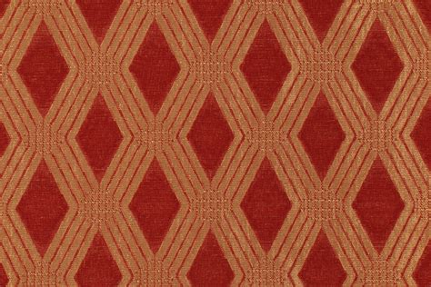 red gold upholstery fabric 0 75 yards diamond upholstery fabric in red gold