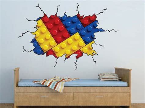 legos in the wall bedroom vinyl wall decal on etsy