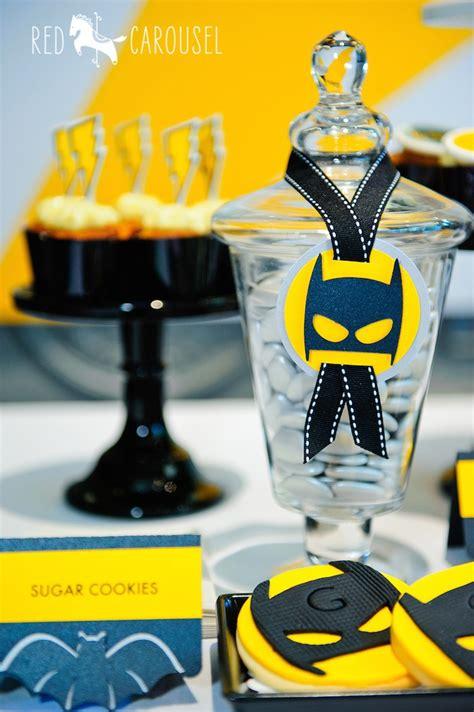 Batman Table Decorations by Kara S Ideas Batboy Batman Themed Birthday