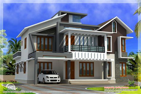 contemporary house plan modern contemporary home in 2578 sq kerala home