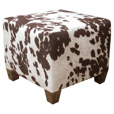 Cow Print Ottoman Harris Upholstered Ottoman Cow Print Ottomans And Handmade Ottomans
