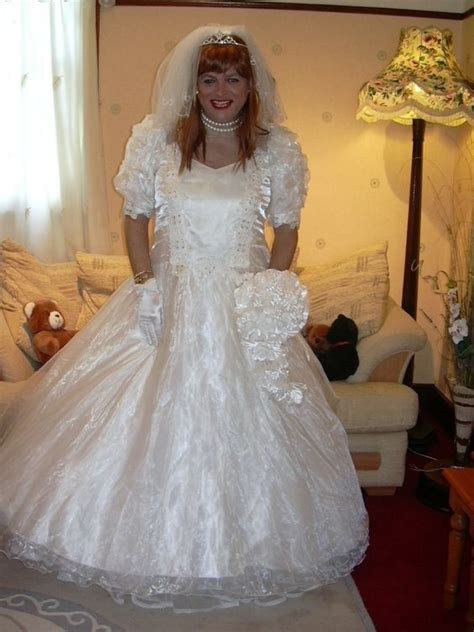 crossdresser trying on wedding dress 78 images about crossdressing brides on pinterest