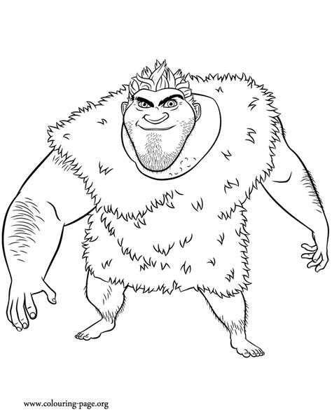 the croods grug coloring page