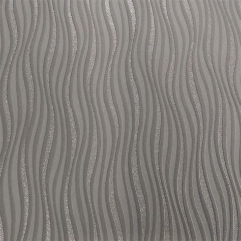 rasch wallpaper rasch luxe wave stripe pattern silver glitter wallpaper 317626