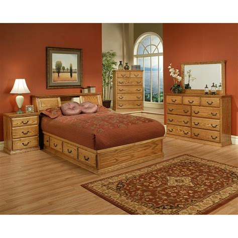 oak bedroom suites traditional oak platform bedroom suite queen size
