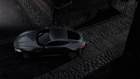 Full HD Wallpaper aston martin db10 coupe black top view