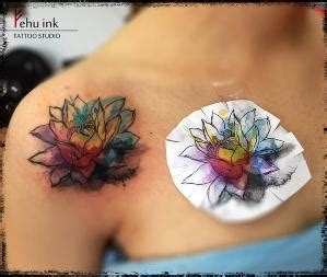 watercolor tattoos regina watercolor flower idea