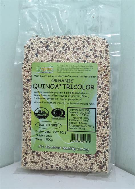 Organic Tri Color Quinoa 250 Gr quinoa organic chiaseedku