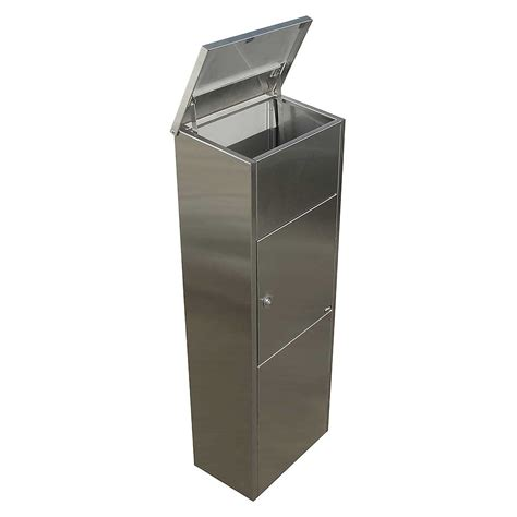 stainless steel mailbox qualarc alx 600 ss allux 600 stainless steel mail drop box