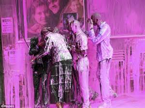 the color purple book article spray protesters with pink paint in kala