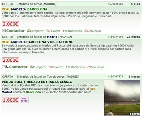 precio de entradas real madrid real madrid vs barcelona se disparan los precios de las