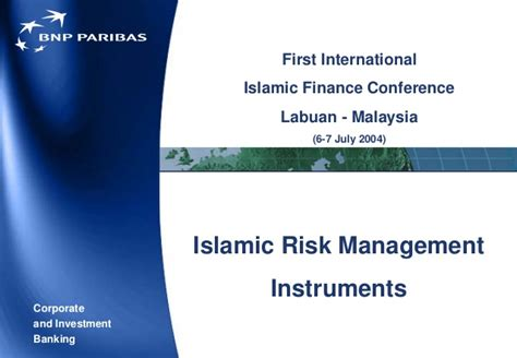 Islamic Risk Management For Islamic alhuda cibe islamic risk management instruments