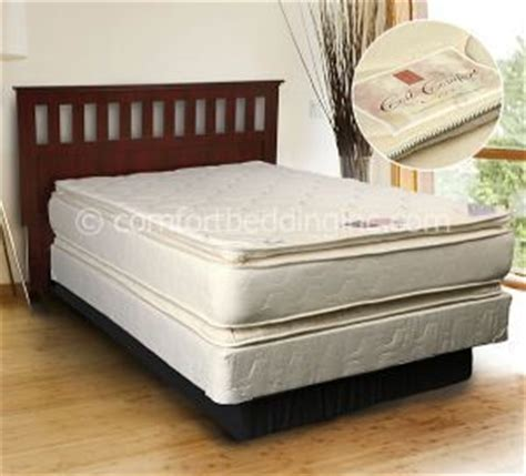 Two Sided Pillow Top Mattress by Beige Coil Comfort Pillow Top Plush Sided