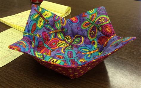 pattern for fabric microwave bowl microwaveable bowl hot pad sewing pinterest bowls