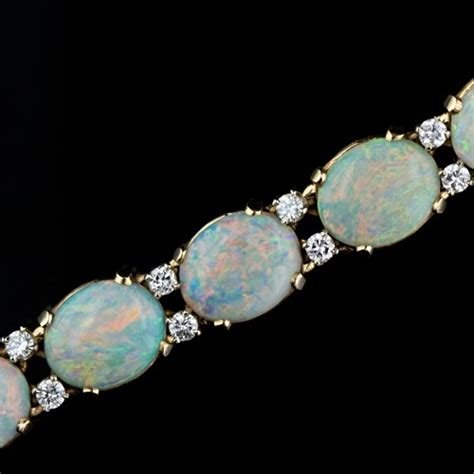 mid 20th century cartier opal and bracelet you
