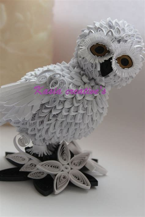 Canon Paper Craft Snowy Owl Paper - 238 best quilling owls images on owls paper